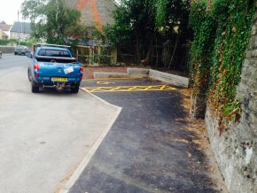 Disabled parking at Wincanton School