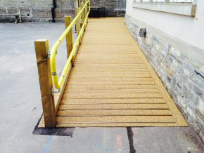 New ramp and handrail at Westbuckland School