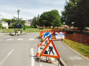 200m of new pathway for Taunton School over school summer holidays