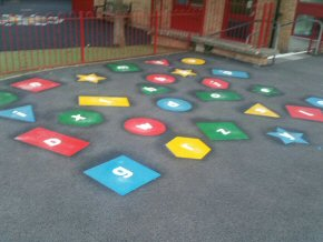 Playground markings at Wembdon School