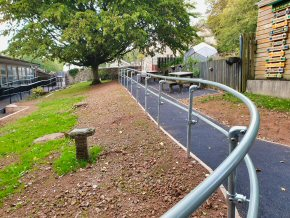 New resin-bound gravel pathways adapted to be DDA compliant at Churchstanton School